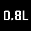 0.8 L logo icon