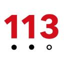 113 logo icon