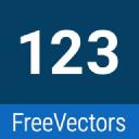 123 Freevectors logo icon