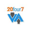 20 Four7 Va logo icon