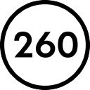 260 Sample Sale logo icon