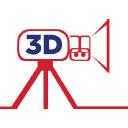 3 D Broadcast logo icon