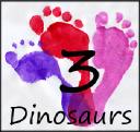 3 Dinosaurs logo icon