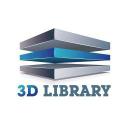 3 D Library logo icon