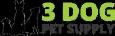 3 Dog Pet Supply Logo