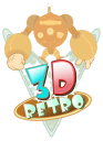 3 D Retro logo icon
