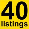 40 Listings logo icon