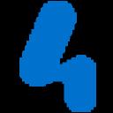 4 Blue logo icon