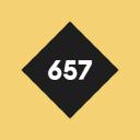 657 logo icon