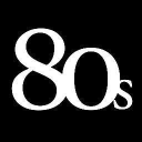 80's Purple logo icon