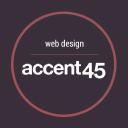 accent45 ~ website design and development logo
