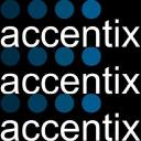 """ACCENTIX """"No Fraud. More Money"""" logo"""