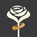Accept This Rose logo icon