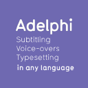 Adelphi Translations: Translation, Subtitling, Voice overs & Typesetting logo