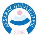 Aksaray University logo