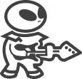 Aliens & Strangers Music Stores Logo