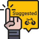 Bicycle Guider logo icon