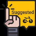 Bicycle logo icon