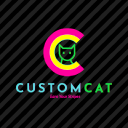 Custom Cat logo icon