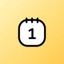 Cute Calendar logo icon