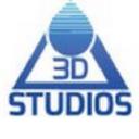 Delta 3 D Studios logo icon