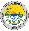Downey City Library logo icon