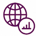 Purple logo icon