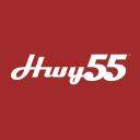 Hwy 55 Burgers, Shakes & Fries logo