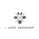 I Love Designer logo icon