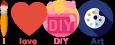 I Love DIY Art Logo