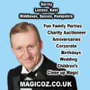 Magic OZ Magic Circle Close up and Table Magician and The Favourite Children's Entertainer logo