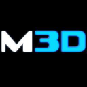 Magnetic 3 D logo icon