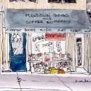Mandolin Books and Coffee Company logo