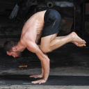 Man F Low Yoga logo icon
