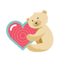 My Baby's Heartbeat Bear logo icon
