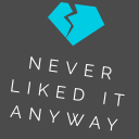 Never Liked It Anyway logo icon