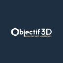 Objectif 3 D logo icon