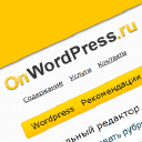 On Wordpress logo icon