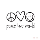 Peace Love World logo icon