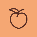 Peach Dish logo icon