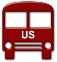 Red Bus2 Us logo icon