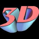 Rock The3 D logo icon
