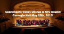 Sacramento Valley Chorus logo
