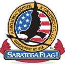 Saratoga Flag, A Broadway Banner & Graphics Co. logo