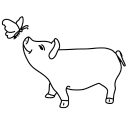 The Butterfly And The Pig logo icon