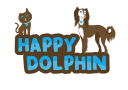 The Happy Dolphin Pets logo icon