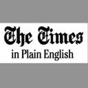 The Times In Plain English logo icon