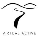 Virtual Active — Search logo icon