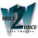 Voice2 Voice logo icon