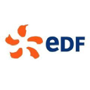 événement réalité virtuelle - Logo de l'entreprise EDF pour une préstation en réalité virtuelle avec la société TKorp, experte en réalité virtuelle, graffiti virtuel, et digitalisation des entreprises (développement et événementiel)